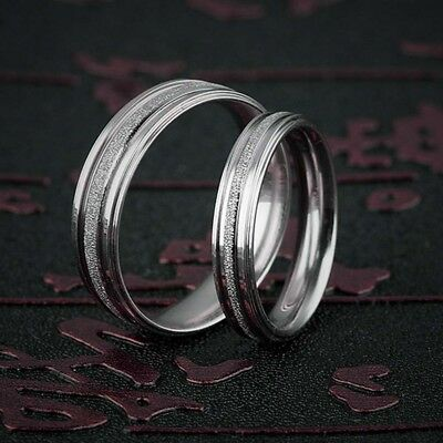 Men's & Women's 6MM Band Silver Engagement Wedding Band Ring Stainless Steel New