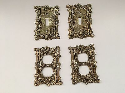 4 Vintage Rose Design Switch Plates Light Switch / Outlet Covers American Tack