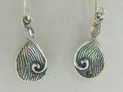 E00684 SHABLOOL ISRAEL Didae Handcrafted Sterling Silver 925 Rounded Earrings
