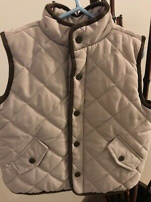 Janie And Jack Boys Puffer Vest Size 4-5, Tan