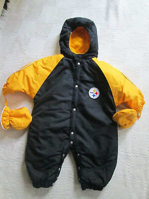 Pittsburgh Steelers Snowsuit  NFL  Baby/Infant   6-9 Months  EUC