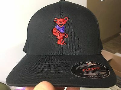 Grateful Dead Dancing Bears Embroidered Flexfit Ball Cap Black, Navy or Olive