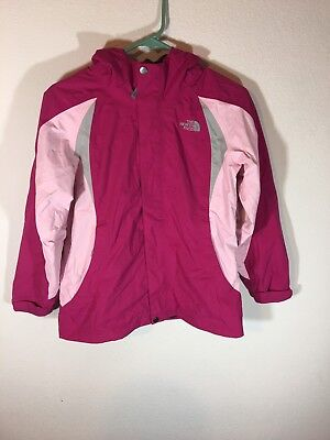 The North Face Girl's Pink Hooded Jacket Rain Coat Large