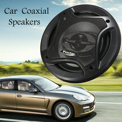 2x 6.5'' Car Audio Coaxial Component Speakers Stereo 90dB 400W 4 Way Subwoofer