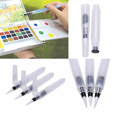 3pcs Refillable Pilot Water Brush Ink Pen for Paint Calligraphy Watercolor S M L