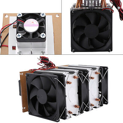 144W Dual-core Semiconductor Refrigeration Peltier Air Cooler Dehumidification J