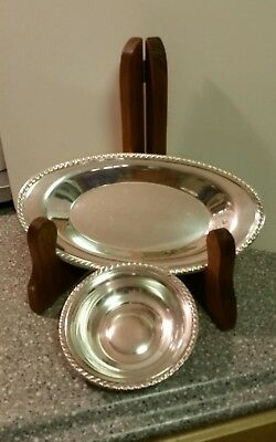 Vintage MANCHESTER STERLING SILVER Matching Bread and bonbon dishes.