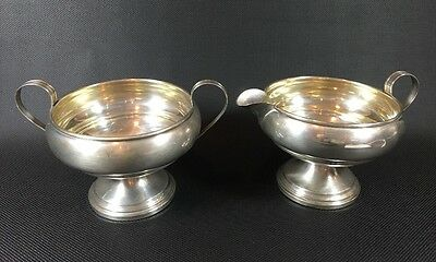 Revere Sterling Cement Weighted Cream And Sugar Set Vintage