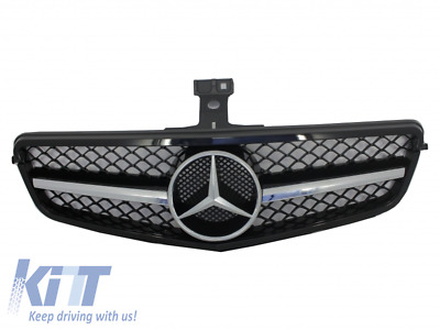 Grille Mercedes C Sport C63 AMG Look W204 S204 07-14 Station Wagon Limo Black