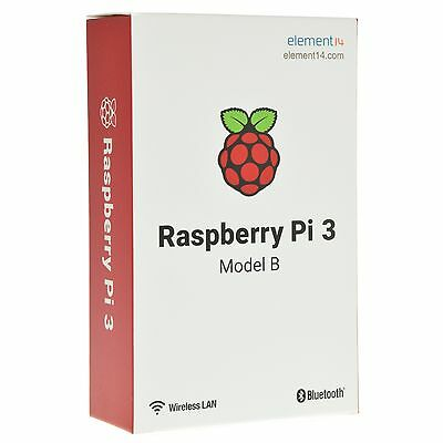 Raspberry Pi 3 Model B  Bluetooth 4.1 Quad Core WiFi 1.2GHz 64bit CPU 1GB RAM