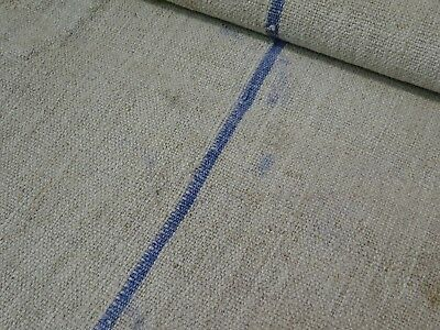 Antique European Feed Sack GRAIN SACK Blue Stripe # 9163