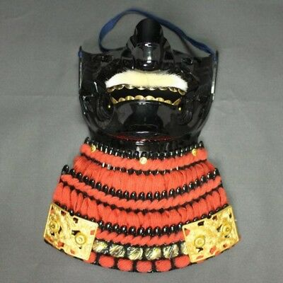 "The ""MENPO"" Personal ARMOR, Japanese Traditional ARMOR Used By SAMURAI, Orange"