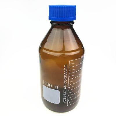 Glass Reagent Bottle With Blue Screw Cap Clear/Brown 100/250/500/1000mL FZ