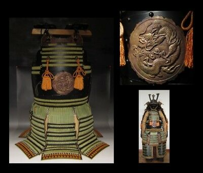 "The ""DOU"" Personal ARMOR,Japanese Traditional ARMOR Used By SAMURAI,Green Dragon"