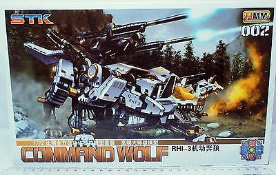 1/72 Zoids HMM 002  RHI-3 Command Wolf Battle Machine with two pilots