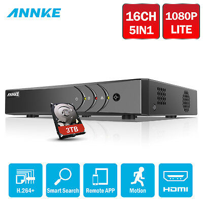 ANNKE 3TB 16CH 1080N 4IN1 CCTV DVR HDMI Security Smart Search H.264+ Video DN61R