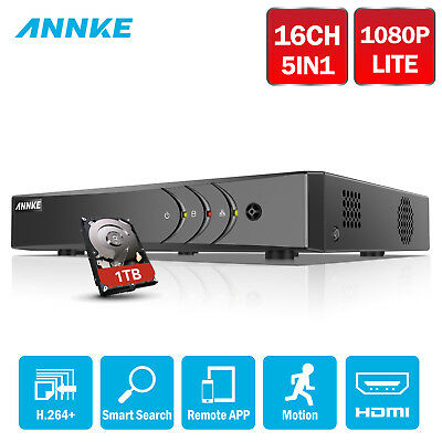 ANNKE 1TB 16CH 1080N 4IN1 CCTV DVR HDMI Security Smart Search H.264+ Video DN61R