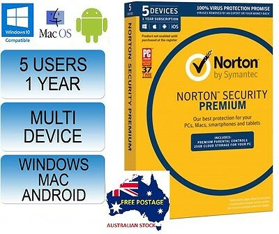 Norton Internet Security Premium - 5 User Anti-Virus 2017 LICENCE