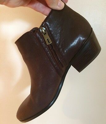 "Sam Edelman Brown Leather ""petty"" Ankle Bootie  Women's 9M  Euc"