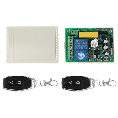 AC 220V RF 433Mhz Wireless Remote Controls Switch 2CH Relay Receiver Module 2Pcs