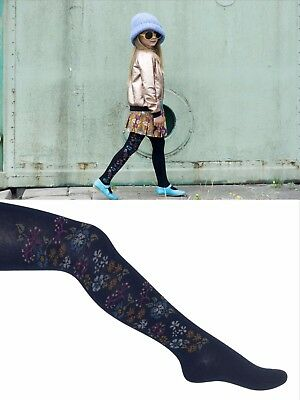 BONNIE DOON ~ Strumpfhose ~  EMBROIDERED FLOWERS TIGHTS ~ 92/98 bis 140/146