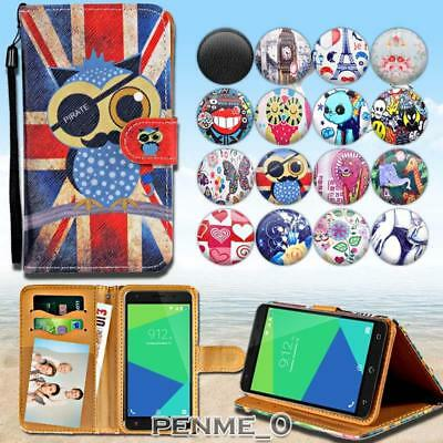 For Various NUU Mobile Phones - Leather Wallet Stand Magnetic Flip Case Cover