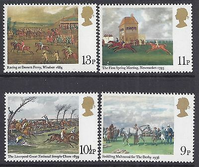 1979 Gb Horse Racing Paintings Set Of 4 Fine Mint Mnh/muh Sg1087-Sg1090