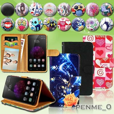 For Various HomTom SmartPhones - Leather Wallet Stand Magnetic Flip Case Cover