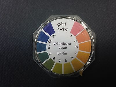 Fisherbrand universal indicator paper pH 1-14 x 1 roll (Length: 5m)