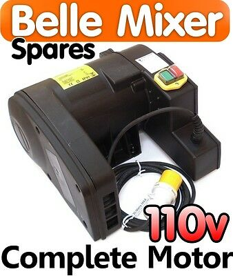 110v MOTOR For Belle Cement Concrete Mixer Minimix 150 Spares Parts Electric NEW