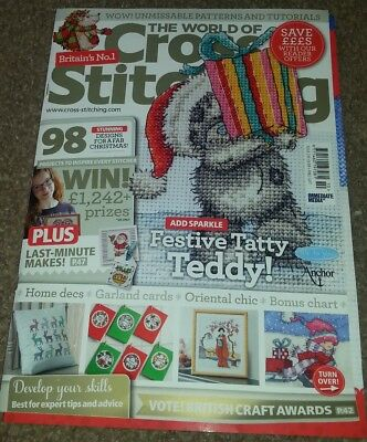 The world of cross stitching magazine Issue 210 with free gifts