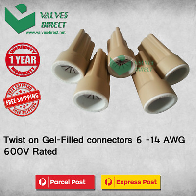 Twist on Gel Filled wire/cable connectors 6 - 14 AWG 600V Rated