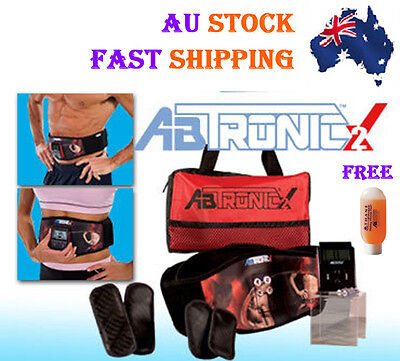 Electro Muscle Slimming Toning Belt Massager Abtronic X2 + Free Gel