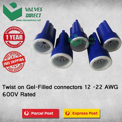 Twist on Gel Filled connectors 12 - 22 AWG 600V Rated