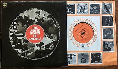 THE UNITED STATES OF AMERICA, Self-Titled, RARE UK Ist press, Psych, NM- vinyl