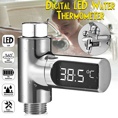 Loskii LED Digital Shower Temperature Display Thermometer Monitor Self-Powered