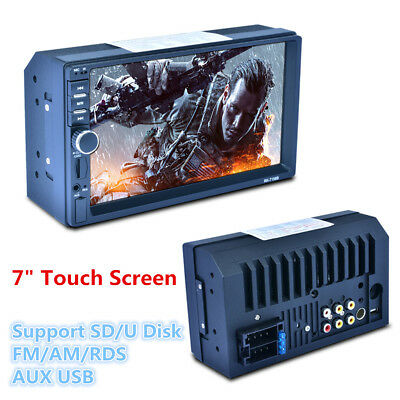 """7"""" HD Touch Screen Car MP5 Player Bluetooth FM Radio Stereo RDS Rearview Monitor"""