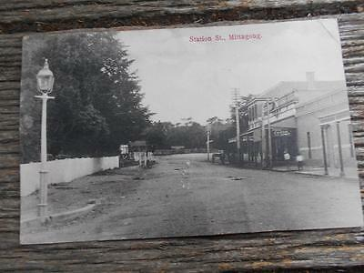 C1908 Station Street Mittagong cycle rifle shop rifle NSW local photo Postcard