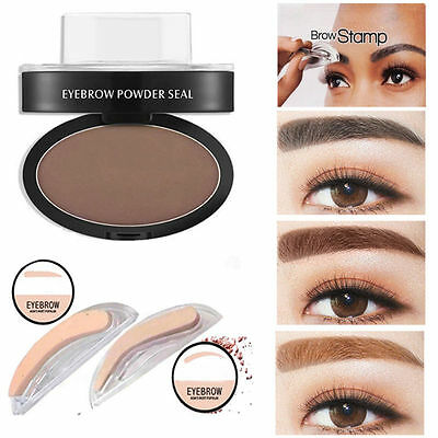Fashion Eyebrow Powder Makeup Brow Stamp Palette Delicated Shadow Definition ca
