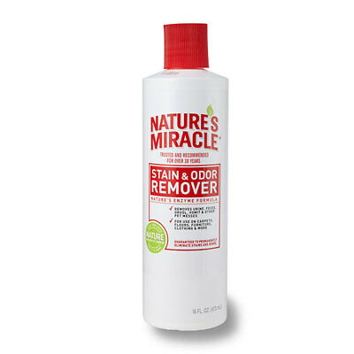 Natures Miracle Stain & Odor Remover 473ml - Removes Urine, Feces, Vomit, Drool