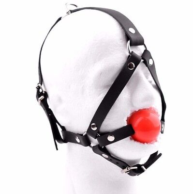 HANDCRAFTED Deluxe Leather Ballgag harness ball gag by Mercy Industries ga15Rd