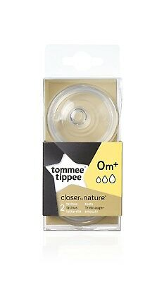 Tommee Tippee Closer to Nature Variflow Flow Teats x 2 ORIGINAL Top Quality