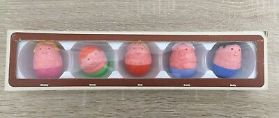 Weeble Familie Airfix 1973 Original Verpackt Mummy/Wendy/Willy/Granny/Daddy