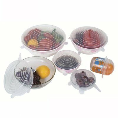 Scute Lids Wiki Store 6pcs Kitchen Silicone Fruit Food Fresh Cover Safe n Clear