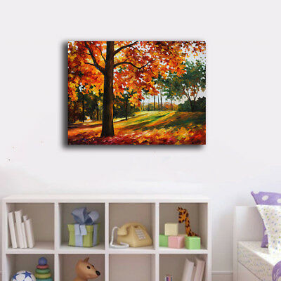30×40×3cm Red Green Trees Canvas Prints Framed Wall Art Home Decor Painting Gift