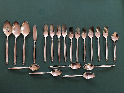 1847 Rogers Bros. set of 20 Mixed Silverplate Silverware