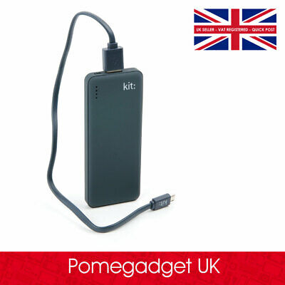Black Power Bank with Micro USB Cable for Apple Watch Series 3