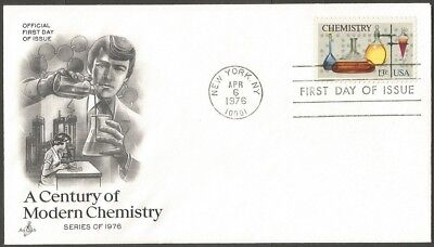 Us Fdc 1976 A Century Of Modern Chemistry 13C Stamp Ac First Day Of Issue Cover