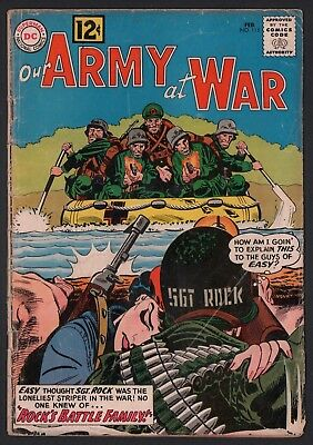 Our Army at War #115 G 2.0 Cream to Off White Pages 1st Mlle Marie Crossover