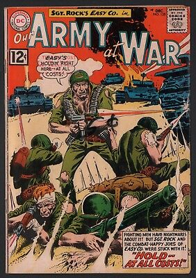 Our Army at War #125 G/VG 3.0 Cream to Off White Pages